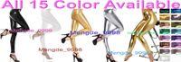 Wholesale zentai dress xxl - Sexy Unisex Pants New 15 Color Shiny Lycra Metallic Trousers Pants Sexy Trousers Pants Unisex Halloween Fancy Dress Cosplay Suit M254