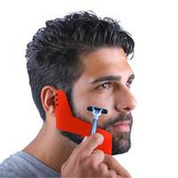 Wholesale Red Beard Man - Red Professional Comb for Beard Shaving Beard Styling Template Carding Tools Bearded Comb Brush for Men Shaving