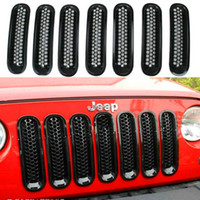 Wholesale Jeep jeep horses horses in the net the grid grille bright circles black with insect nets