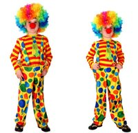 Wholesale fancy kids clothing - Kids Clothing Baby Clothes Baby Boy Clothes Boys Clothes New Harlequin Costume Kids Clown Halloween Fancy Dress Cosplay Clothing