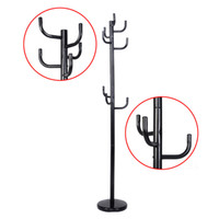 Wholesale New Metal Coat Rack Hat Stand Tree Hanger Hall Umbrella Holder Hooks Black