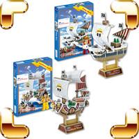 ein stück boot modell großhandel-Neue Ankunft Geschenk One Piece 3D Modell Cartoon Anime Schiff Puzzle Tausend Sunny Going Merry DIY Modell Boot Puzzle Sammlung Spielzeug