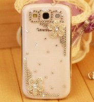 Wholesale Rhinestone Phone Cover Galaxy S3 - new 2015 luxury rhinestone mobile phone case cover For samsung Galaxy s3 i9300 case wholesale