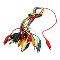 Wholesale Test Lead Jumper - Alligator Clips Electrical DIY Test Leads 10pcs For Test Leads Double-ended Crocodile Clips Roach Clip Test Jumper Wire