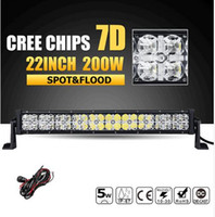 22inch 200W 7D CREE Chips LED Light Bar offroad combo fascio principale Lavoro Bar 12v 24v ATV camion SUV 4WD 4x4 Led Bar Lights