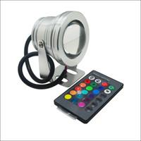 ingrosso 12v dc ha condotto le luci di inondazione-Faretti a LED 10W RGB LED luce subacquea Paesaggio LED luci Custodia in alluminio IP68 AC DC 12V