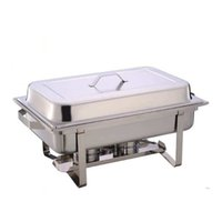 Wholesale kindelt heavy duty meat veg chafer with two fuel holder stainless steel food warmer with electro surface treatment high quality