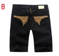 Wholesale Orange Denim Shorts For Men - hot sale mens robin jeans summer styles robin shorts jeans for men us famous brand jeans denim blue size 32-42