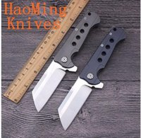 Wholesale Field Knives - Small field cleaver S35vn balde Steel Folding Knife TC4 Titanium Handle Ball Bearing Satin Blade 60Hrc Survival Knives EDC Tool