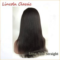 Wholesale Cheap Fast Shipping Virgin Hair - 130-150% Density Fast Free Shipping Malaysian Remy Yaki Human Hair Wigs lace Front Wig Cheap amazing Yaki Straight Full Lace Wig For Women