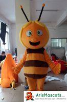 Wholesale Theme Party Animals - 100% Real Photos Maya the Bee mascots mascot costume Animal Mascotte Mascota for Kids Party Theme Park Entertainment Fur mascot