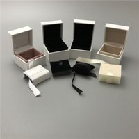 Wholesale Leather Pendant Box - Start With 50pcs 4 Different White Paper Box For Pandox Disny Perks Jewelry Boxes For Charm Bead Earrings Ring Pendant Packaging Display