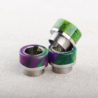 Wholesale Electronic Cigarette Rebuild - 528 Goon RDA Atomizers Drip Tips Epoxy Resin Stainless Steel Wide Bore Drip Tips for E Cigs Rebuild Electronic Cigarette Mouthpiece Covers