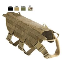 Outdoor Camouflage Plate Carrier Roupa para cães Carga Jacket Gear Vest Tactical Dog Training Molle Vest NO06-203