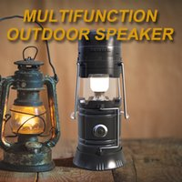 Wholesale Powered Speaker Stand - smart bluetooth speaker outdoor portable FM wireless speakers built-in 2200mAh solar power to charge the battery with retail package