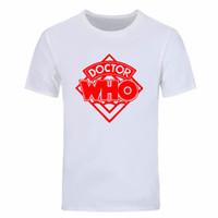 novo dr venda por atacado-2019 Novo Estilo Verão Moda BBC Doctor Who DR QUEM Daleks Exterminar À Vitória Sitcoms engraçado impressão T Shirt Dos Homens Casuais DIY-0236D