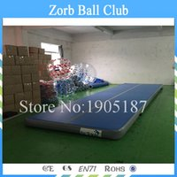 Wholesale Cheap Door Mat - Free Shipping 8*2m Good quality door to door delivery Outdoor Used Cheap Inflatable Tumble Jumping Track Inflatable Gym Mat