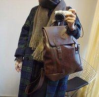 Wholesale Leopard Print Backpack Vintage - 2016 HOT New Arrival 41*34*14 CM Laptop Bag Backpack Men Large Capacity PU Compact Men's Backpacks Unisex Women Bagpack