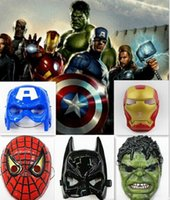 The Avengers masque le masque de super-héros Spiderman Hulk Captain America Batman Iron Man Masque de théâtre Nouveauté ou Kids Favorite