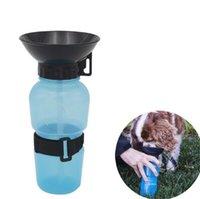 Wholesale Wholesale Plastic Travel Mugs - Useful Auto Dog Mug Puppy Travel Walking Hiking Water Bottle Dispenser Feeder Dog Cat Drinking Bottle