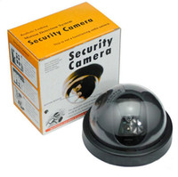 Wholesale Camera Domes Plastic - Dummy Fake Camera Outdoor Indoor Fake Surveillance Camera Dome CCTV Security Camera With Flashing Red LED Light c292