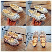 mode schönheit kinder großhandel-Kinderschuhe Baby Mädchen verkleiden sich Schuhe Harz Stein Schönheit PU Mädchen Mode Freizeitschuhe Top-Qualität mit dem besten Preis