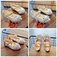 bebek kızı elbiseleri toptan satış-Çocuklar en iyi fiyat ile en kaliteli ayakkabı reçine taş güzellik PU kız moda rahat ayakkabı bebek kız elbise ayakkabı