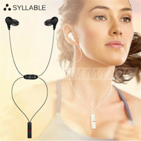 Wholesale Earphone Power - Original Syllable A6 Bluetooth 4.1 Handsfree Sports Running Headset Neckband In Ear Earphone Wireless Power Sound Headphone Free Shipping