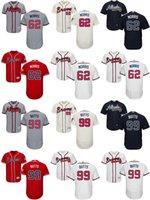 Wholesale Mens Butt - 2017 Factory Outlet Mens Ladys Kids Atlanta Braves 62 Akeel Morris 99 Alan Butts Home Road Alternate Cheap Cool Flex Base Baseball Jerseys