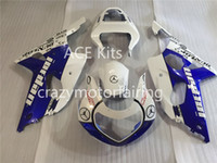 Wholesale Suzuki Gsxr Aftermarket Fairing Kit - 3 Gifts New 100% Fit Aftermarket Fairing kit for SUZUKI GSXR1000 GSX-R1000 GSXR 1000 K2 00 01 02 2000 2001 2002 Fairings Blue White z1