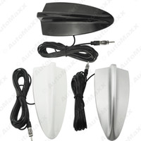 Wholesale Antenna Silver - FEELDO Universal Car FM AM Radio Antenna Shark Fin Roof Decorative Antenna Black Silver White #1992