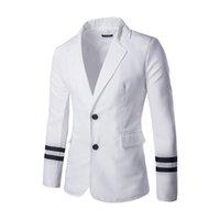 ingrosso uomini coreani del cappotto-All'ingrosso 2016 New coreano Slim Fit Uomo vestito nero Abiti formali Abito da sposa Blazer su misura marchio di abbigliamento maschile Cappotto X58