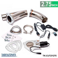 "Wholesale Electric Exhaust Kit - TANSKY - Electric Exhaust 2.75"" E- Cutout E-cutout W Switch  Remote  Switch+Remote Downpipe Cut out Valve System Kit"