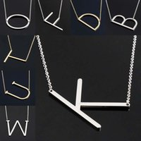 Fashion Letter Colliers Pendentifs Alfabet Collier initial Gold Color Stainless Steel Choker Collier Femme Jewelry Kolye Collier fashion