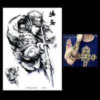 Wholesale Men Body Paint - Wholesale- 1pc Waterproof Large Big Tattoo Sketch Handsome Zhao Yun Painting Design LC-853 Temporary Women Men Body Art Tattoo Sticker Gift