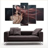 Wholesale Picture Frame Custom - High Quality Paintings Modern custom theme The ghost's talons reach out to the girl Canvas Art Print Poster Wall Picture No Frame