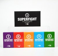 Acheter Classique pour les jeux pour enfants-SUPERFIGHT Cartes Jeu Et Le Pack d'Expansion Rouge Bleu Orange Violet Vert Le Card Game Core Card Deck Comparer à Cards Of Humanity Classic