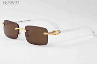 Wholesale pilot boy - Luxury Men Designer Buffalo Horn Glasses Wood Sunglasses Summer Styles 2017 Fashion Brand Designer sunglasses for men With Box Eyewear