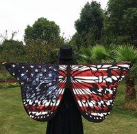 Wholesale Long Scarves For Summer - Shawl Lady Wrap Beach 2017 Women Butterfly Wings Scarf Soft Long Scarves Printed Beach Cover For Summer Gift 23 Styles DHL Free Shipping
