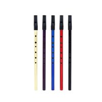 Atacado- Deluxe Traditional Tin Penny Whistle 6 buracos Wind Music Instrument Brass Chave de D Purple