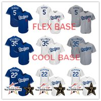 Baseball blue and white stripe - Men s Los Angeles Dodgers Clayton Kershaw Jersey Corey Seager Cody Bellinger Baseball Jerseys stitched Stars and Stripes Jersey