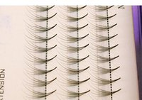 Wholesale Party Lashes Eyelash Extensions - Volume 5D False Eyelashes 0.07mm Thickness Hair Mink Strip Individual False Eyelashes Extensions with Party makeup 8-13mm