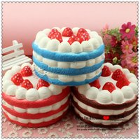 Wholesale Simulation Food - 12cm Squishies Cakes Simulation Food For Key Ring Phone Chain Toys Gifts All Kinds Of Style