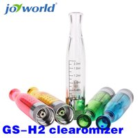 Wholesale H2 Cartomizer - Wholesale- e cig GS H2 Clearomizer GSH2 Atomizer E Cig For Dual Coil Atomizers Replace Cartomizer GS-H2 Tank suit Evod eGo 510 battery 20YY