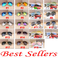 Wholesale Coloured Frame Sunglasses - 19 colors summer women Dazzle colour Sunglasses Driving glass cycling glasses men BEACH Sun glasses Eyewear A++ free ship