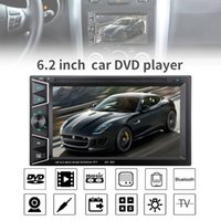 Wholesale Universal Hd Radio Tuner - 6.2 Inch 2 DIN In Dash Bluetooth HD Touch Screen Car DVD CD Player FM Radio Receiver with Wireless Remote Control CMO_229