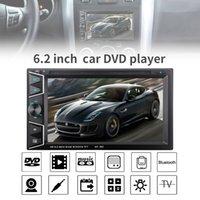 receptor de tv chinês venda por atacado-6.2 Polegada 2 DIN Em Traço Bluetooth HD Screen Touch Car DVD CD Player Receptor de Rádio FM com Controle Remoto Sem Fio CMO_229