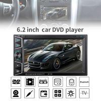 receptor de televisión chino al por mayor-6.2 pulgadas 2 DIN en el tablero Bluetooth HD Pantalla táctil del coche Reproductor de CD y DVD Receptor de radio FM con control remoto inalámbrico CMO_229