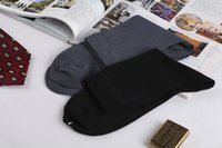 Wholesale Cheap Business Socks - Wholesale Cheap Socks Super High Quality Mens Business Summer Wear Two Colors 12 Pairs lot Cotton Blend Moisture Wick Free Shipping