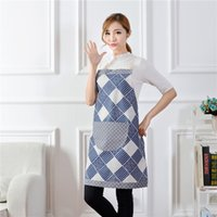 Wholesale Cute Cooking Aprons For Women - 2017 Bib Kitchen Apron Funny Patterns Cooking Apron Cute Fashion Chef Apron for Men or Women Kitchen Accessories